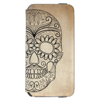 Day Of The Dead Grungy Skull Incipio Watson™ iPhone 6 Wallet Case