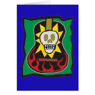 Day of the Dead Guitar Skul Blue w/Green Card