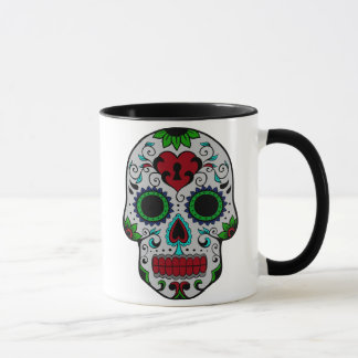 Day of the Dead in Red and Green Mug