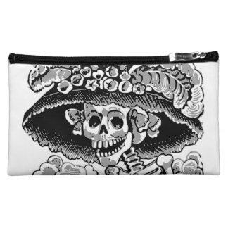 Day of the Dead lady Dia de los Muertos Cosmetic Bag