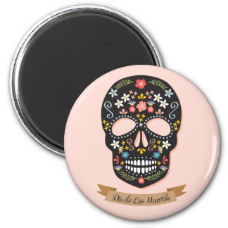 Day of the Dead, magnet - black-pink