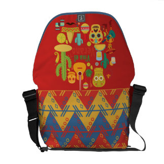 DAY OF THE DEAD MESSENGER BAG, MEXICAN 5th of MAY Courier Bag