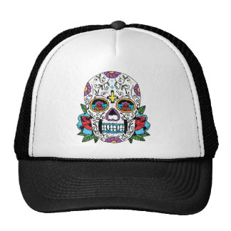 Day of the Dead Mexican Skull Trucker Hat
