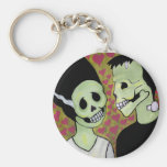 Day of the Dead Monster Love Keychain