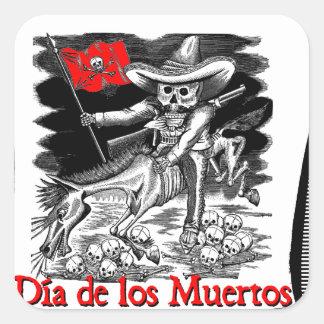 Day of the Dead motif 4 Square Sticker