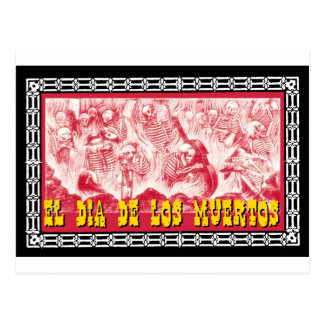 Day of the Dead motif 6 Postcard