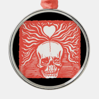 Day of the Dead motif 7 Silver-Colored Round Ornament