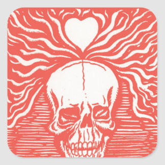 Day of the Dead motif 7 Square Sticker