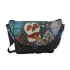 Day Of The Dead Rickshaw Messenger Bag
