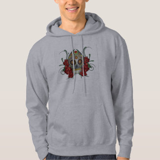 Day of The Dead Rose Illustration Hoodie