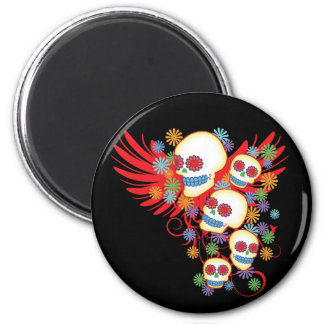 Day Of The Dead Round Magnet