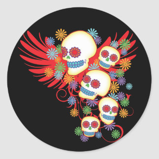 Day Of The Dead Round Sticker