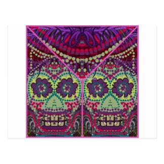 Day of the Dead SistersDia do Muertos Sugar Skulls Postcard