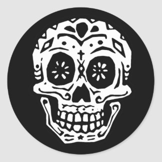 Day Of The Dead Skull 2 Classic Round Sticker