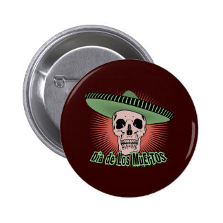 Day Of The Dead Skull 2 Inch Round Button