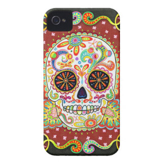 Day of the Dead Skull Art iPhone 4 Case