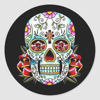 Day of the Dead Skull Classic Round Sticker