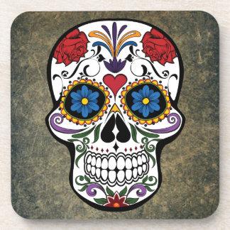 Day of the Dead Skull Día de Muertos Mexico Drink Coaster