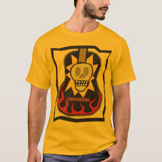 Day of the Dead Skull Guitar T-Shirt