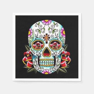 Day of the Dead Skull Paper Napkin