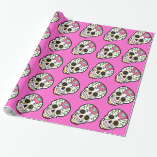 Day of the dead skull pattern wrapping paper