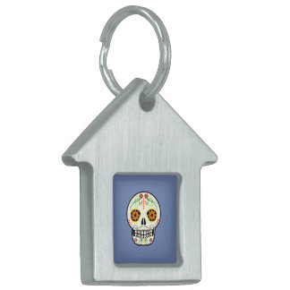 Day of the Dead Skull Pet Tag - Dog House