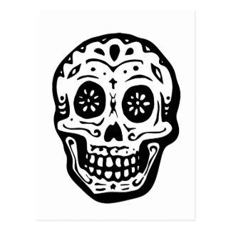 Day Of The Dead Skull-White Postcard