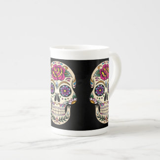 Day of the Dead Skull with Rose Tea Cup