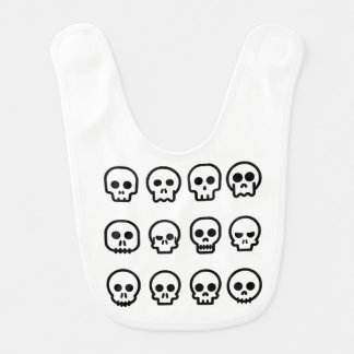 Day of the Dead - Skulls Baby Bib