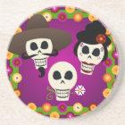Day Of The Dead Skulls Coaster