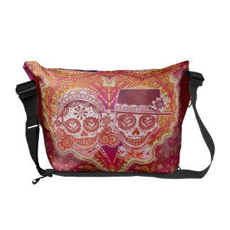 Day of the Dead Skulls Messenger Bag