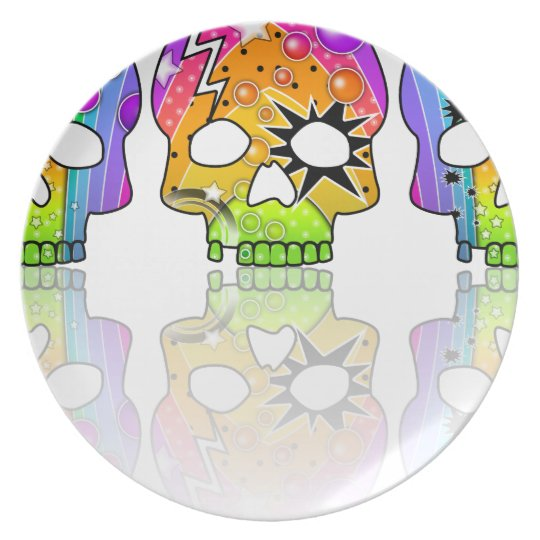 Day of the Dead Skulls Plate