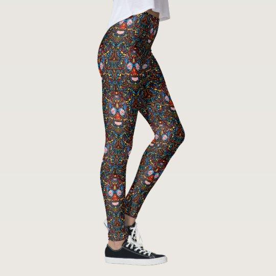 Day of the Dead Skulls Womens Leggings Yoga Pants