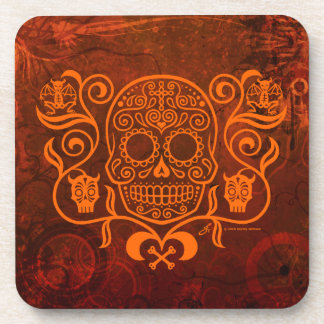 Day of the Dead Sugar Skull Beverage Coaster