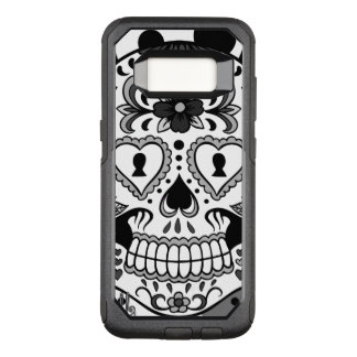 Day of the Dead Sugar Skull, by Skinderella OtterBox Commuter Samsung Galaxy S8 Case