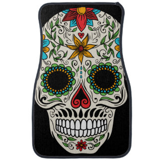 Day of the Dead Sugar Skull Car Floor Mat