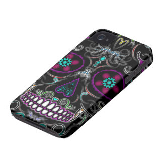 Day of the Dead Sugar Skull - Colorfully Black Case-Mate iPhone 4 Case