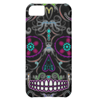 Day of the Dead Sugar Skull - Colorfully Black iPhone 5C Cases