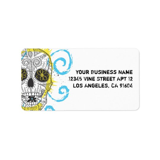 Day of The Dead Sugar Skull Comic Tattoo Design