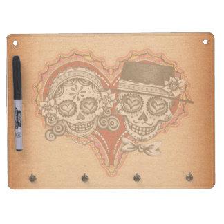 Day of the Dead Sugar Skull Couple Dry Erase Board