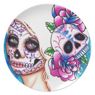 Day of the Dead Sugar Skull Girl: Empty Promises Plate