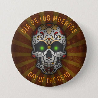 Day of the Dead Sugar Skull | Halloween Custom 3 Inch Round Button