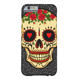 Day of the Dead Sugar Skull Hearts and Flowers Barely There iPhone 6 Case