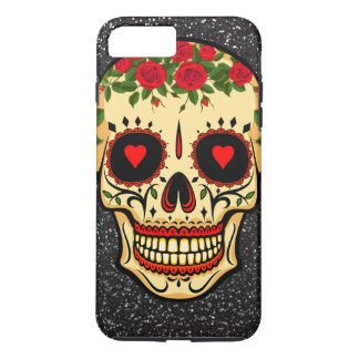 Day of the Dead Sugar Skull Hearts and Flowers Case-Mate iPhone Case