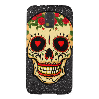 Day of the Dead Sugar Skull Hearts and Flowers Galaxy S5 Cover