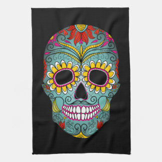 Day of the Dead Sugar Skull Kitchen Towel
