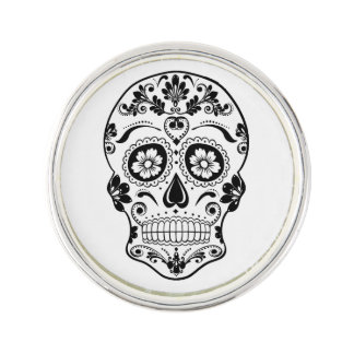 DAY OF THE DEAD SUGAR SKULL LAPEL PIN