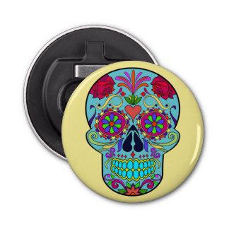 Day of the Dead Sugar Skull Magnet Bottle Opener