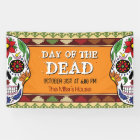 Day of the Dead Sugar Skull Mexican Halloween Banner