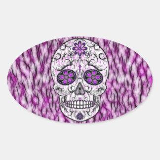 Day of the Dead Sugar Skull - Pink & Purple 1.0 Sticker